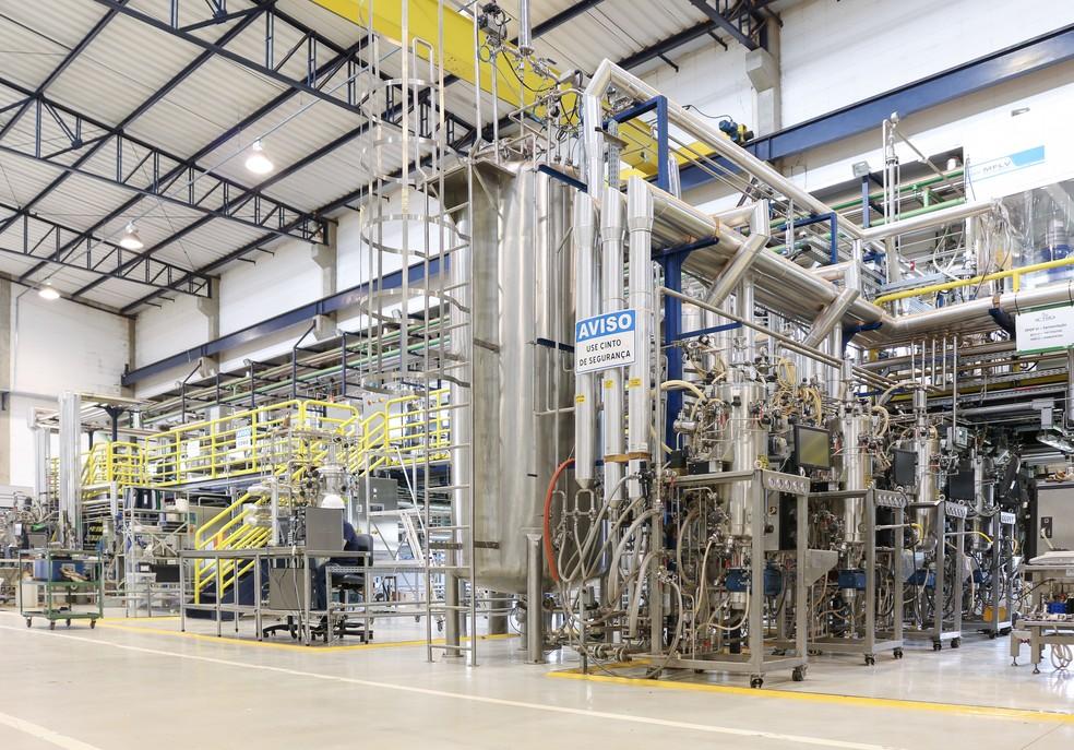 Planta piloto do Laboratório Nacional de Ciência e Tecnologia do Bioetanol (CTBE), no CNPEM, em Campinas (SP) — Foto: Erik Nardini/CTBE/CNPEM