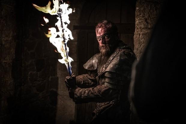 Beric Dondarrion na Batalha de Winterfell (Foto: reprodução)