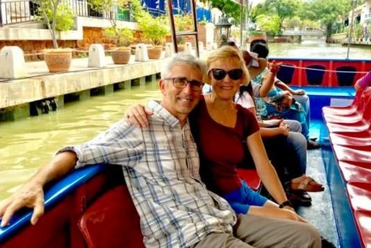 Roger Stotesbury e a esposa, Hilary