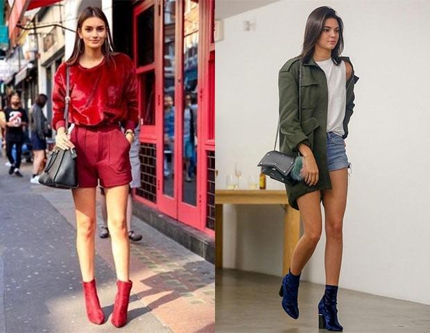 As botas de veudo molhado em cores diferentes são queridinhas do momento (Foto: Pinterest / Reprodução)