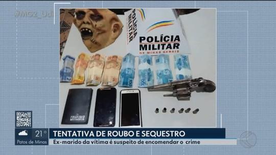Jovem confessa roubo e sequestro de comerciante em Vazante e diz que ex-marido da vítima foi o mandante