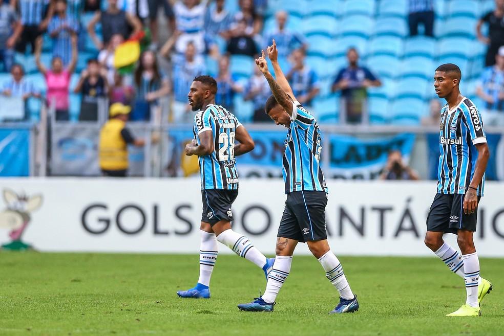 Matheus Henrique vira contra o Vasco — Foto: Lucas Uebel / Grêmio, DVG