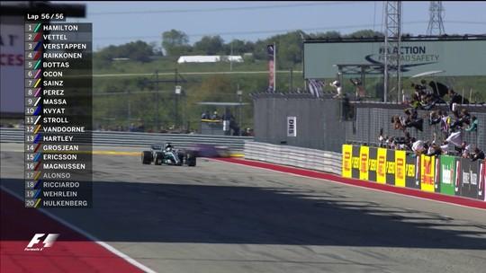 Soberano, Hamilton vence nos EUA e fica perto do título. Mercedes é tetra