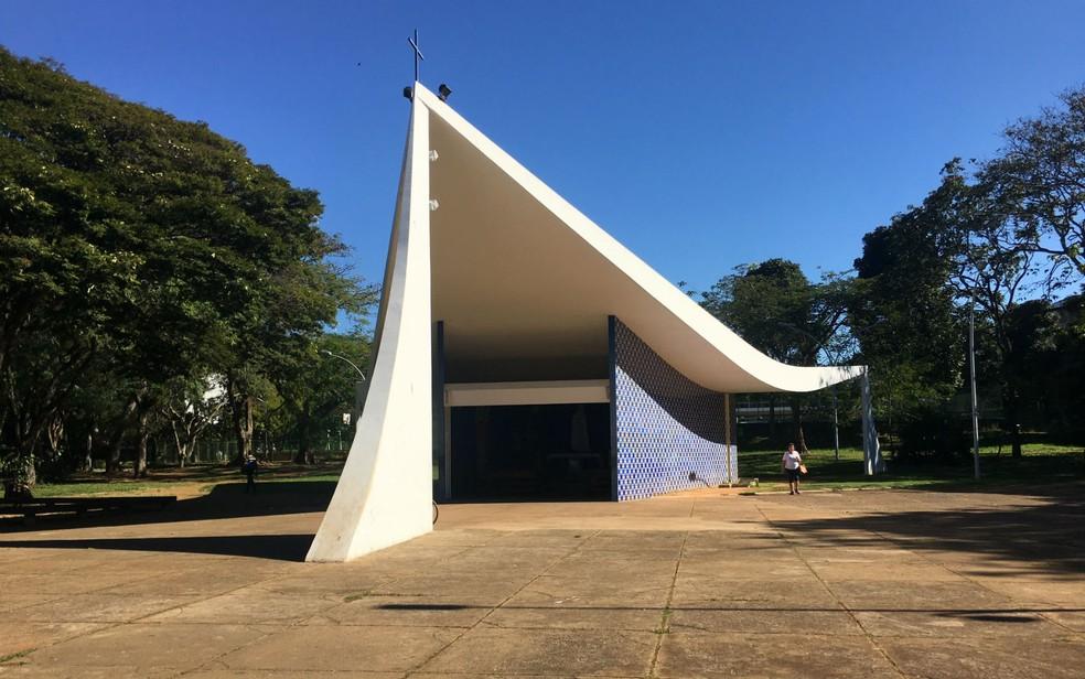 Igrejinha Nossa Senhora de Fátima, na 307/308 Sul, em Brasília (Foto: Luiza Garonce/G1)