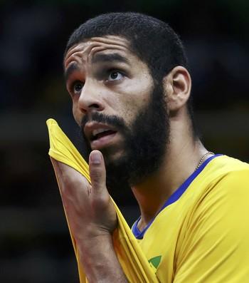 brasil, argentina, brasil x argentina, vôlei masculino, Wallace  (Foto: REUTERS / Yves Herman)