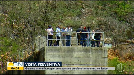 Governo do RN diz que vai pagar R$ 500 mil por nova avaliação em barragem com danos estruturais