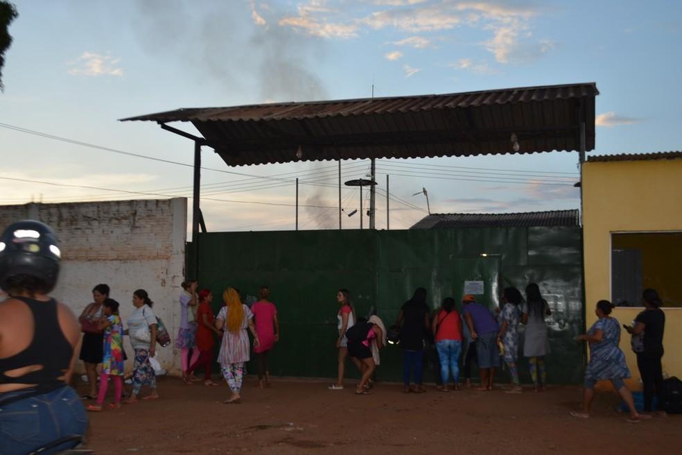 Presídio Ênio Pinheiro: fuga em massa ocorreu no último domingo (31).  — Foto: Hosana Morais/Rede Amazônica