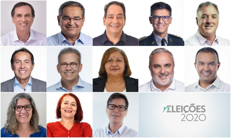 Candidatos a prefeito de Natal — Foto: G1
