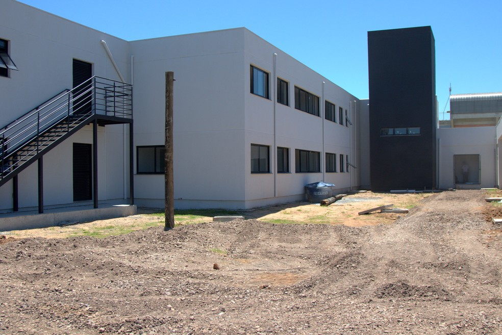 Área externa do alojamento do novo CT da base do Grêmio — Foto: Rodrigo Fatturi/Grêmio