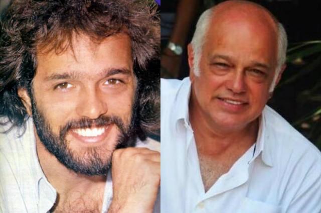 Jayme Periard nos anos 1980 e atualmente (Foto: Reprodução)