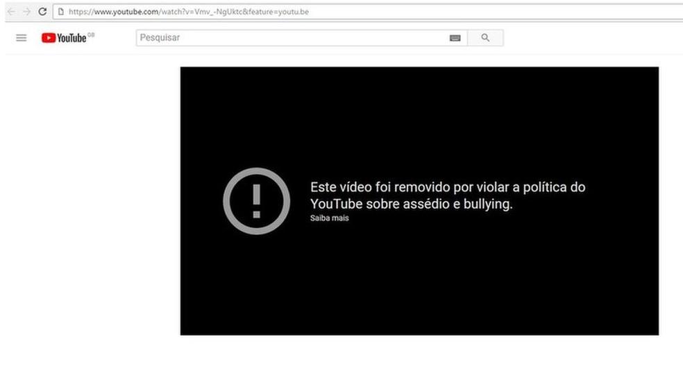 Após contato da BBC Brasil, o YouTube removeu boa parte dos vídeos (Foto: Reprodução/YouTube)
