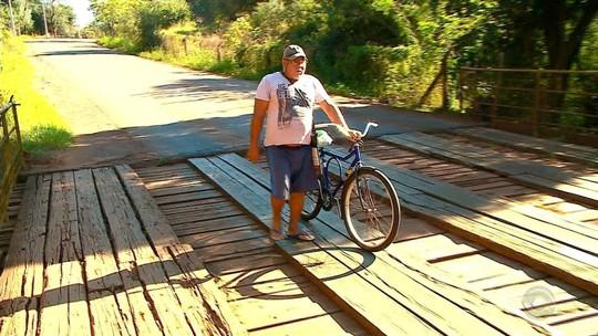 Ponte de madeira em rodovia estadual em Santa Rosa preocupa motoristas e moradores