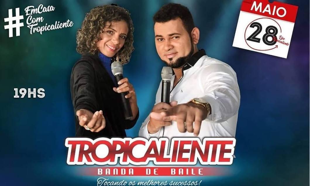 Banda de baile Tropicaliente vai tocar os seus grandes sucessos em live solidária nesta quinta (28)