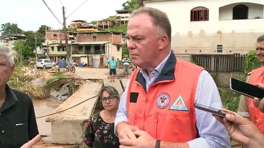 Governador do ES diz que Estado tem dinheiro para recuperar cidades afetadas pelas chuvas