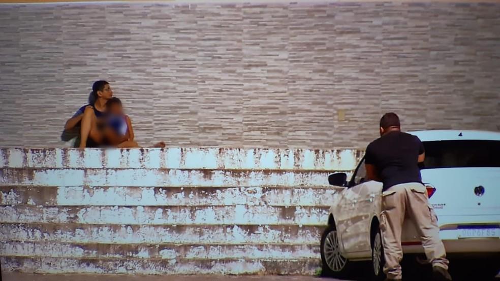 Homem armado fez criança refém em Macaíba — Foto: Samuel Florêncio/Inter TV Cabugi