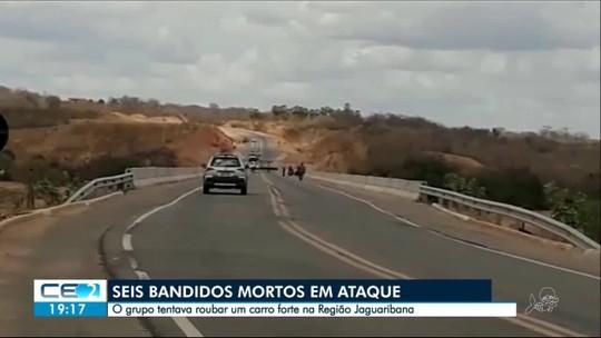 Ataque a carro-forte em Quixeré termina com seis suspeitos mortos