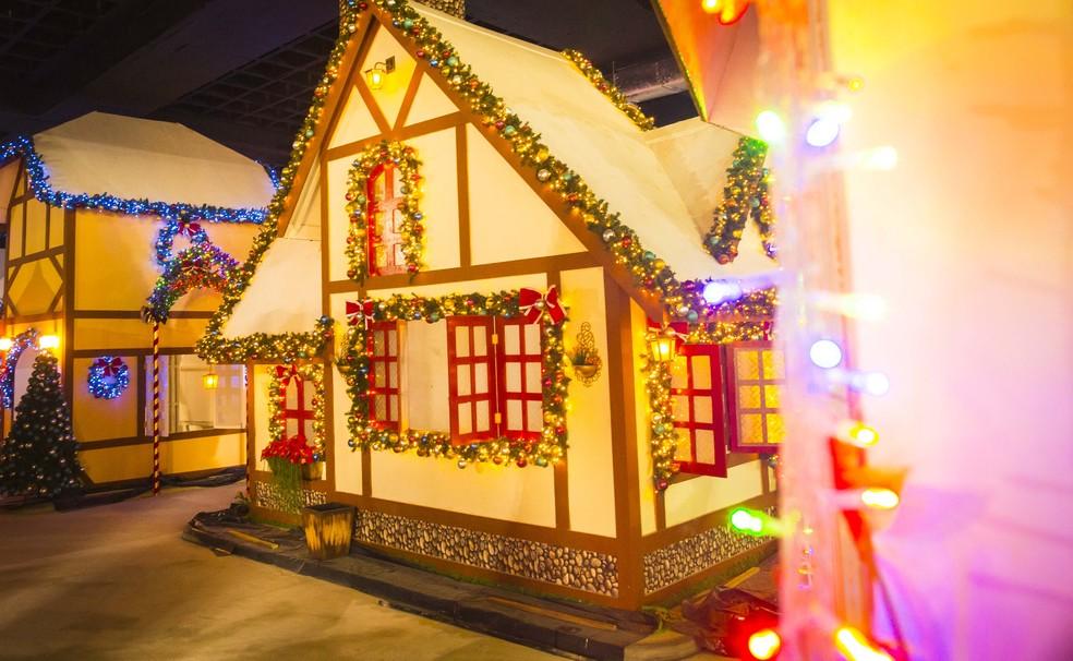 -  Cidade cenográfica natalina promete encantar visitantes, em Belém.  Foto: Divulgação