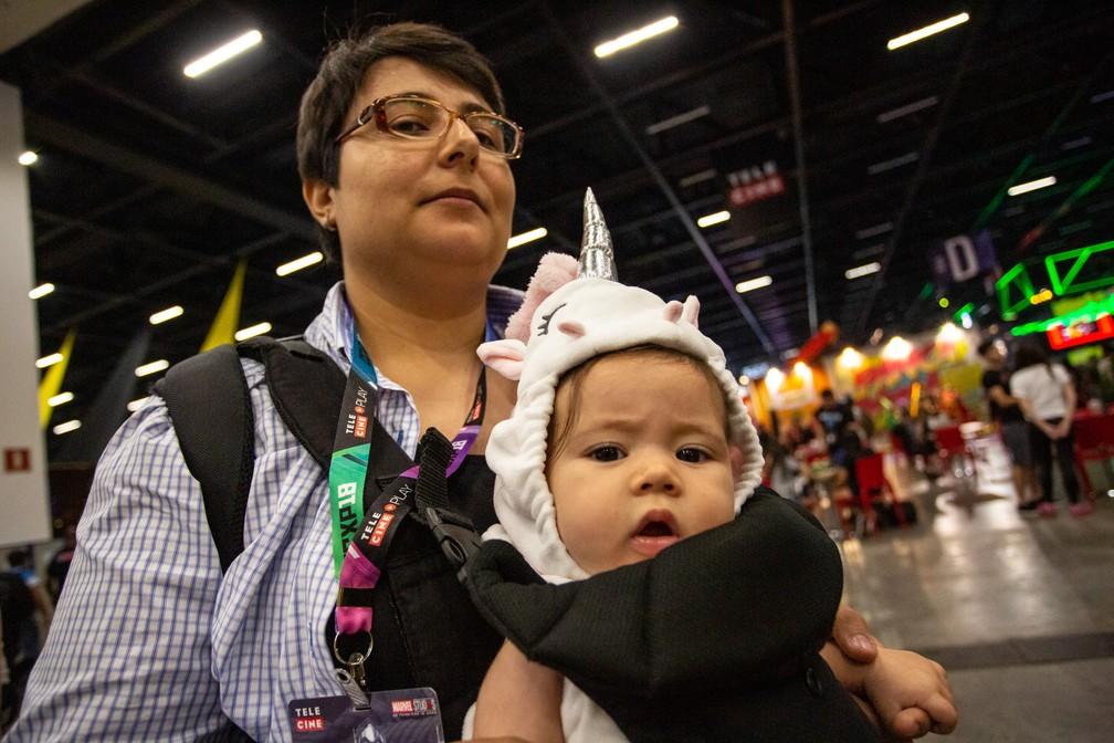 Cosplay bebê de uncórnio na CCXP 2018 — Foto: Fabio Tito / G1