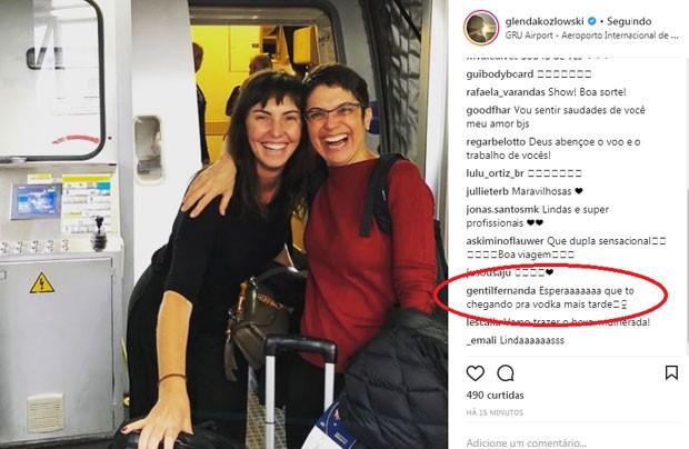 O comentário de Fernanda Gentil para Glenda e Sandra (Foto: Reprodução Instagram)