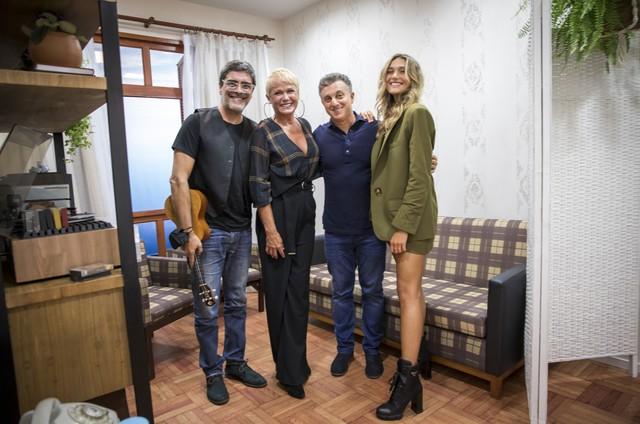 Junno Andrade, Xuxa, Luciano Huck e Sasha (Foto: João Miguel Júnior/Globo)