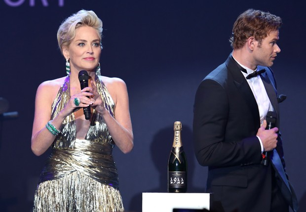 Sharon Stone e Kellan Lutz (Foto: Getty Images)