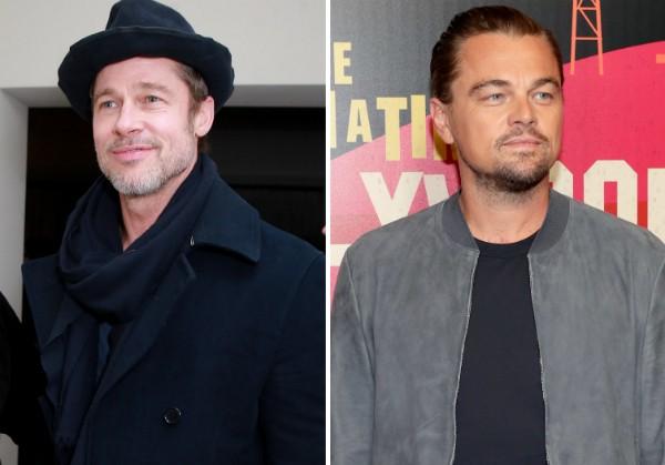 Os atores Brad Pitt e Leonardo DiCaprio (Foto: Getty Images)