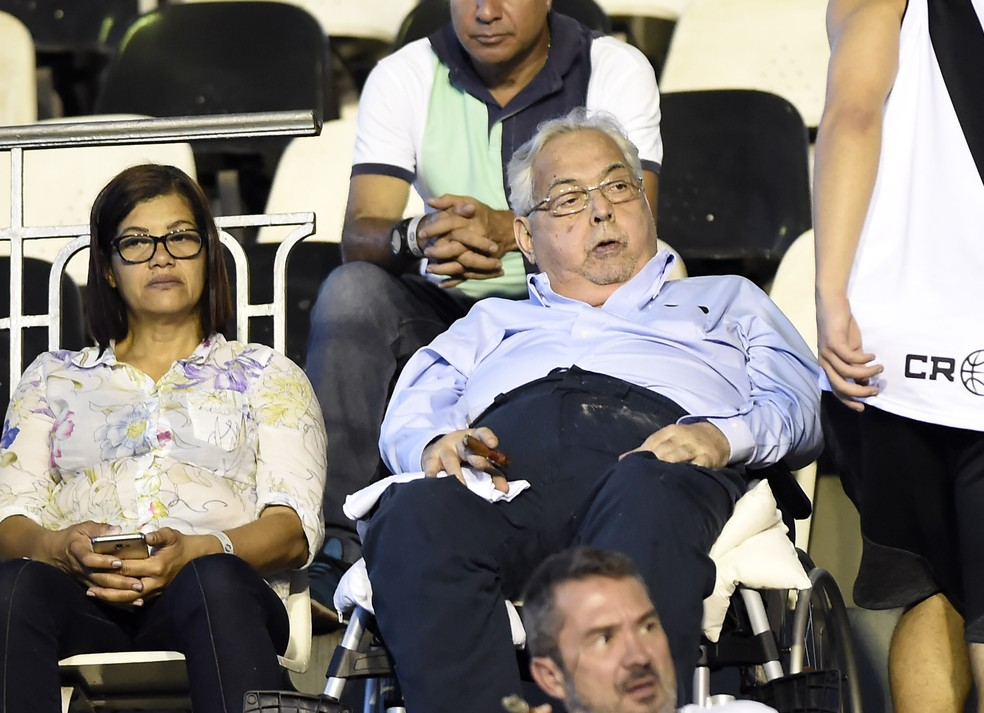 Eurico em uma de suas últimas visitas a São Januário em jogo do Vasco â?? Foto: André Durão / GloboEsporte.com