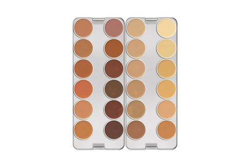 Dermacolor Camouflage System, Kryolan (R$369 a paleta com 6 cores)