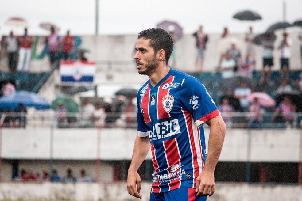 Igor Alves pode retornar ao Itabaiana contra o ASA — Foto: Wendell Rezende/AOItabaiana