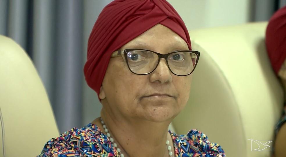 Raimunda Matos viaja semanalmente de de Cinelândia até Imperatriz para fazer quimioterapia — Foto: Reprodução/TV Mirante