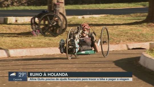 Paratleta pede ajuda financeira para trocar a bike e pagar a viagem à Holanda