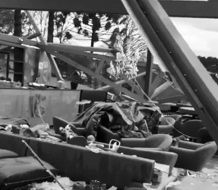 Área destruída pelo ciclone bomba na viíncola