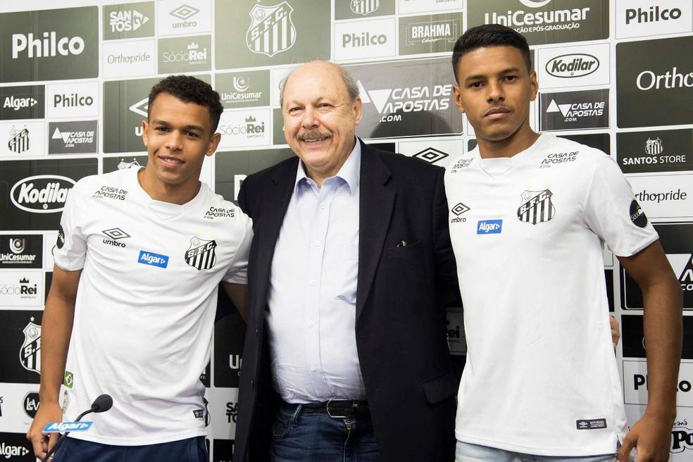 Santos renovou com Sandry e Tailson nesta semana — Foto: Ivan Storti/Santos FC