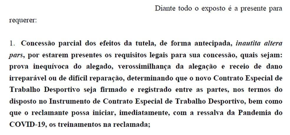 Dodô pede que contrato com o Cruzeiro tenha validade — Foto: Reprodução