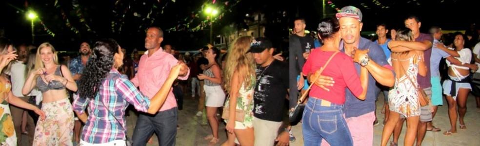 Casais cairam no forró  (Foto: Ana Clara Marinho/TV Globo )