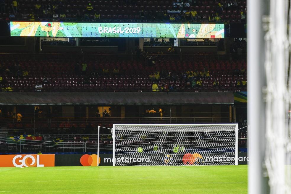 Brasil recebeu a Bolívia no Morumbi na abertura da Copa América — Foto: BP Filmes