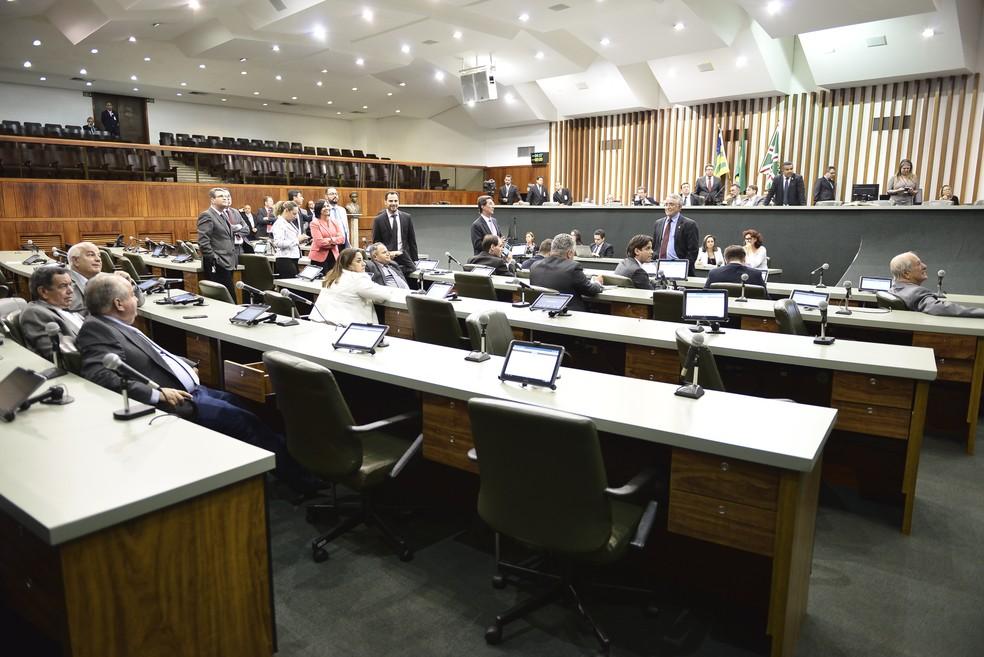 Cargos foram aprovados pela Assembleia Legislativa e sansionados pelo governador  (Foto: Ruber Couto/Alego)