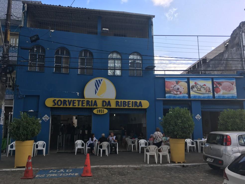 Sorveteria da Ribeira (Foto: Valma Silva/G1 BA)