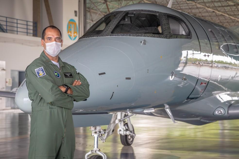 Tenente-Coronel Aviador Christiano Pereira Haag, da FAB — Foto: Wilhan Campos/FAB