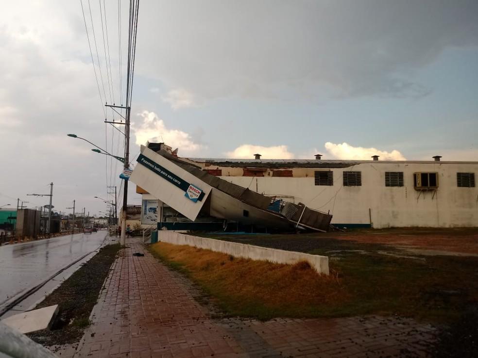 Temporal em Várzea Grande — Foto: Divulgação
