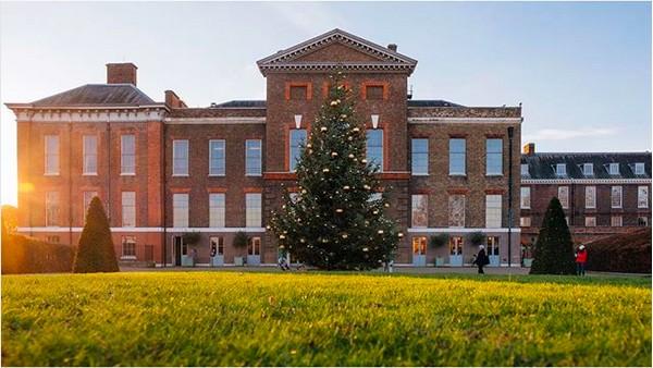 O Palácio de Kensington, no qual vivem os príncipes Harry e William e suas esposas (Foto: Instagram)