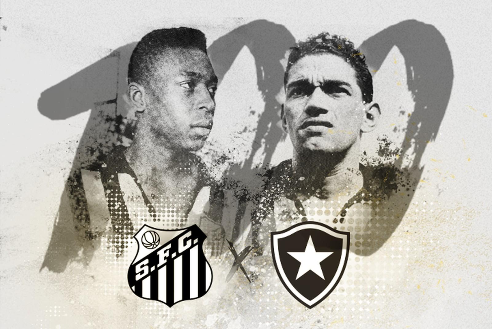 O clássico interestadual Botafogo x Santos completa 100 anos de história em  2018 112578d755f33