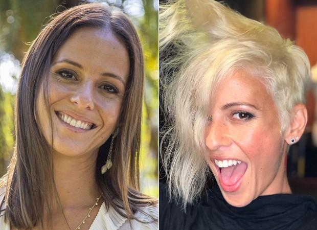 Fernanda de Freitas: antes e depois (Foto: TV Globo/Reprodução/Instagram)