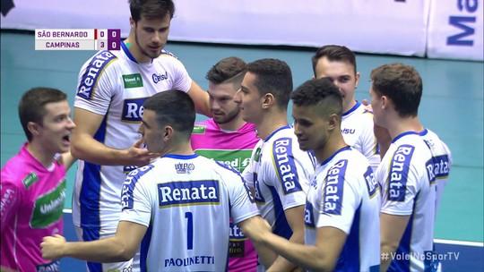 Melhores momentos: São Bernardo 0 x 3 Campinas pelas quartas de final do Paulista de Vôlei