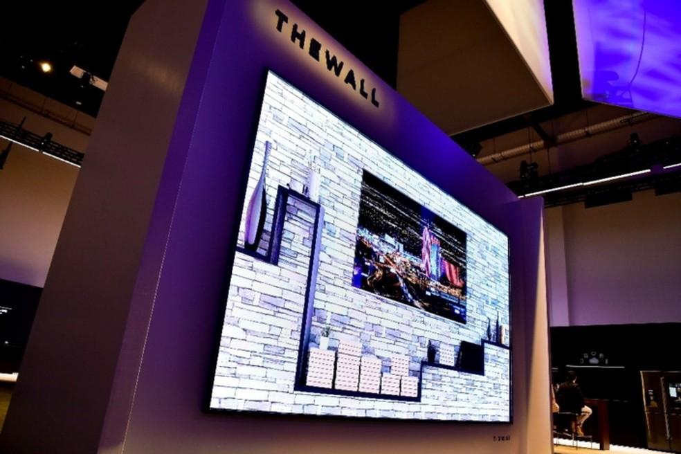 'The Wall', a TV de 146 polegadas da Samsung. (Foto: Divulgação/Samsung)