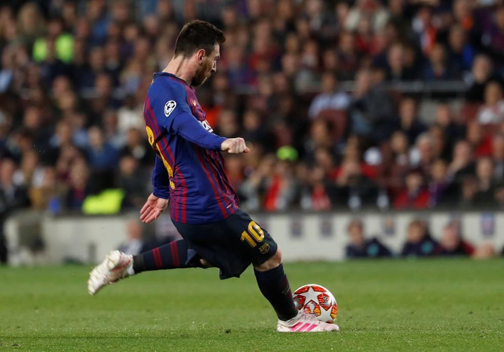 Messi Liverpool x Barcelona — Foto: Reuters