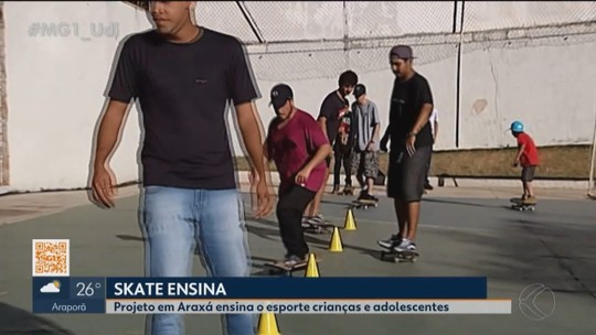 Skate Ensina: Projeto social dissemina valores além das manobras em Araxá