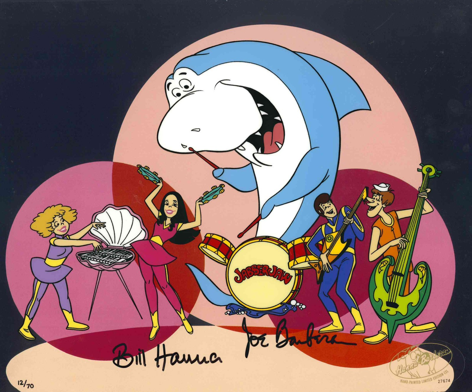 Tutubarão e a banda Os Netunos. (Foto: Divulgação / Hanna-Barbera)