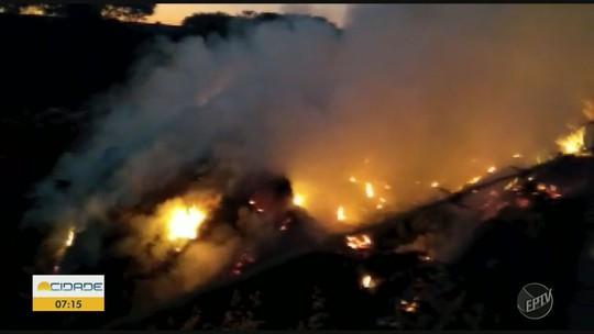 Incêndio atinge ecoponto em Iracemápolis