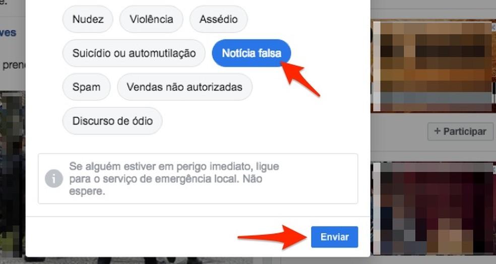 Indique uma publicação do Facebook que traga um fake news — Foto: Reprodução/Marvin Costa